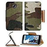 MSD Premium Flip Pu Leather Wallet Case Motorola Google Nexus 6 IMAGE ID: 13246675 Military camouflage background
