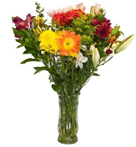 Mixed Fresh Cut Flower Bouquet - 25 Stems - 9 Kinds of Flowers