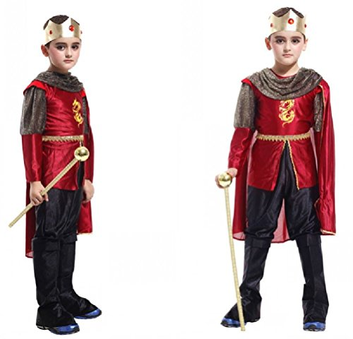 Purplebox Halloween Cosplay Costume Mask Child Dance Clothes Arab Prince King Clothes