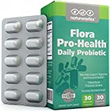 Probiotics 30 Billion Per Capsule; Flora Pro-Health by Naturenetics - 60 Day Supply - Vegan - 3rd Party Tested - No Refrigeration Required