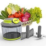 HOMEPUFF Mini Handbetrieber Gemüse und Obst Zerkleiner mit drei Messer