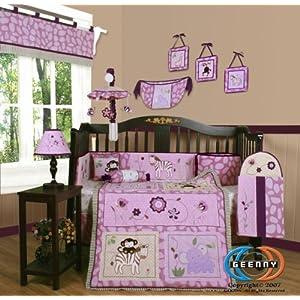 Baby Bedding  Girls on Animal Kingdom Purple Crib Baby Girl Bedding Buy Now
