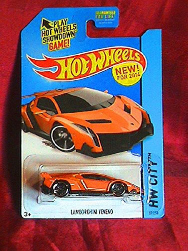 2014 Hot Wheels Hw City Lamborghini Veneno - Orange [Ships in a Box!] - 1