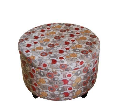 Geometric Oval Storage Ottoman