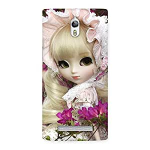 Angel Look Doll Back Case Cover for Oppo Find 7