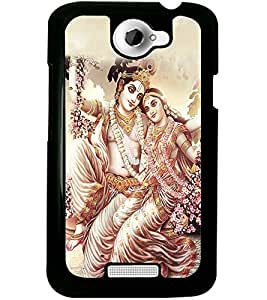 ColourCraft Lord Radha Krishan Design Back Case Cover for HTC ONE X