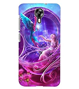 ColourCraft Beautiful Angel Design Back Case Cover for MICROMAX CANVAS XPRESS 2 E313