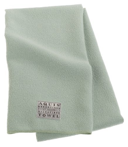 Aquis Microfiber Hair Towel, Celadon (19 x 39-Inches)