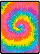 Colorful Watercolor Tie Dye Trippy Art Printed Blanket Sumptuously Plush Lap Warmer Winter Blankets