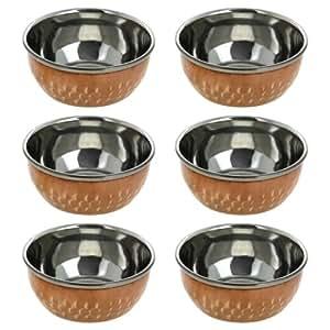 Vaisselle en cuivre saladier ustensiles indiens ustensiles for Ustensiles de cuisine en cuivre