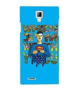 EPICCASE Superheros love Mobile Back Case Cover For Micromax Canvas Xpress A99 (Designer Case)