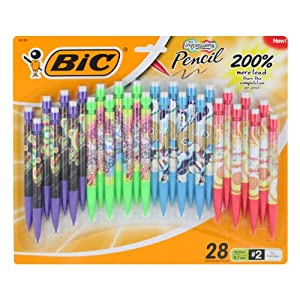 BIC Impressions Mini Pencil, 28 Pack, 0.7 mm Lead (MPMDP101)