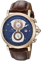 Lucien Piccard Men's 40015-RG-03-BRW Pegasus Analog Display Quartz Brown Watch