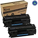 2 PACK V4INK® Replacement CE505A 05A Toner Cartridge for LaserJet P2035, P2035n, P2050, P2055, P2055d, P2055dn, P2055x