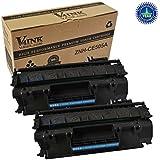 2PK V4INK ® Compatible CE505A 05A Toner Cartridge-Black for LaserJet P2035 P2055 series printers