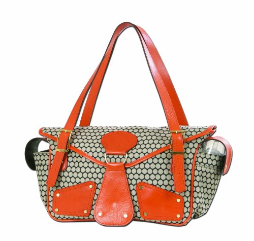 Mia Bossi Maria Diaper Bag, Tangerine