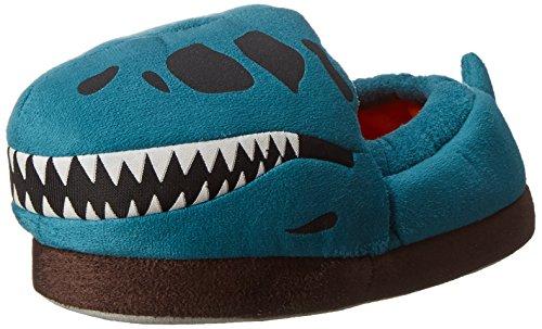 Stride Rite Glow In The Dark T-Rex Skull Slip On (Toddler/Little Kid/Big Kid), Aqua, 13-1 M US Big Kid (Boys House Slippers compare prices)