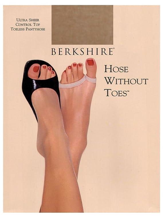 Berkshire Women's Toeless Ultra Sheer Control Top Pantyhose Pack of 3