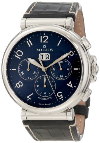 Milus Men's ZETC010F Stainless Steel with Blue Dial Watch