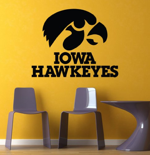 Ncaa Wall Mural Vinyl Sticker Sports Logo Team Iowa Hawkeyes Da2889