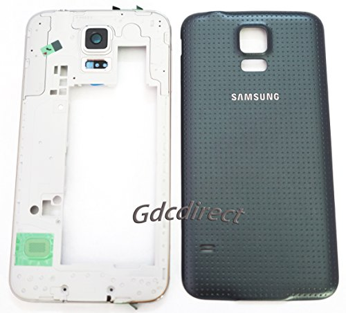 Genuine Oem Samsung Galaxy S5 I9600 G900 Housing Cover Frame Battery Door Case Black