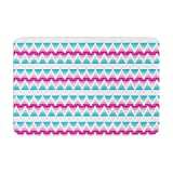 KESS InHouse Apple Kaur Designs Swimming Pool Tiles Blue Pink Memory Foam Bath Mat, 17 by 24
