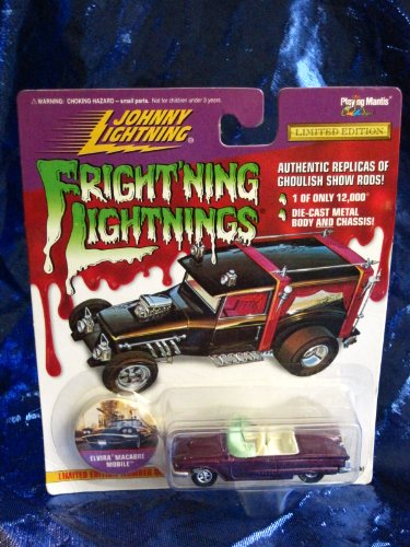 Johnny Lightning Frightning Lightning Elvira Macabre Mobile Die Cast Vehicle