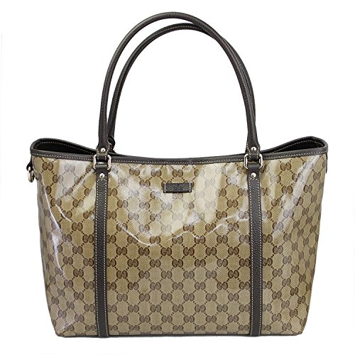 Outlet Gucci Womens Beige Chrystal Gg Canvas Tote Shoulder Bag 265695 Fz1fg