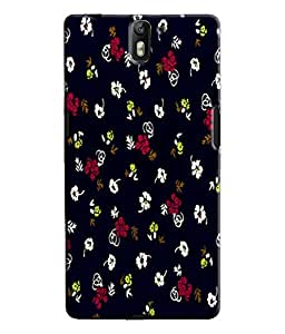 EU4IA Cute Flowers Pattern MATTE FINISH 3D Back Cover Case For ONE PLUS ONE - D250