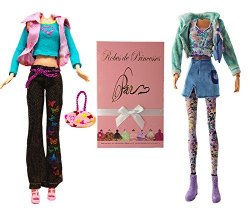 """Lotto di Vestiti """"NANIE"""" per bambole Barbie, Disney ed altri personaggi - """"serie limitata"""""""
