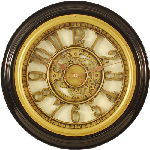 Ashton Sutton Resin Raised inner dial and case wall clock - 18 diam.in.