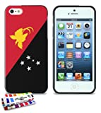 GENUINE Extra-Slim Black Case Flag Papua New Guinea By MUZZANO for APPLE IPHONE 5