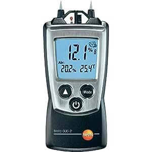 Testo 0560 6062 606-2 Appareil de mesure d'humidité de matériaux et du bois avec hygromètre et thermomètre intégrés pour la mesure de la température de l'air + capuchon de protection