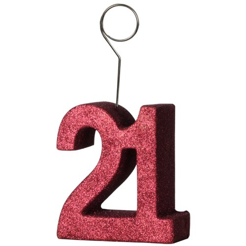 "Beistle 50751-21 Glittered ""21"" Photo Balloon Holder"
