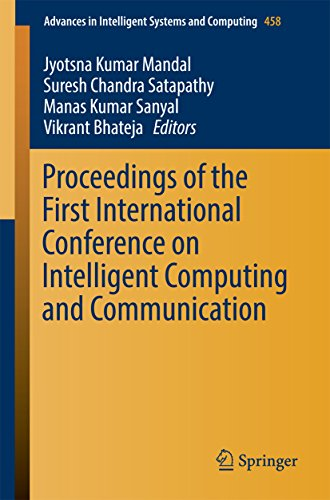 Proceedings of the First International Conference on Intelligent Computing and Communication (Advances in Intelligent Systems and Computing)