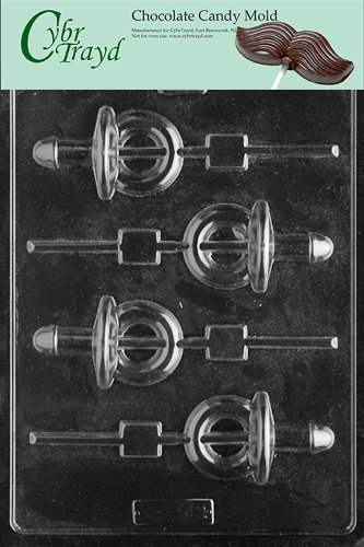 Cybrtrayd Xx512 Pacifier Pop Chocolate Candy Mold With Copyrighted Molding Instructions front-1055961