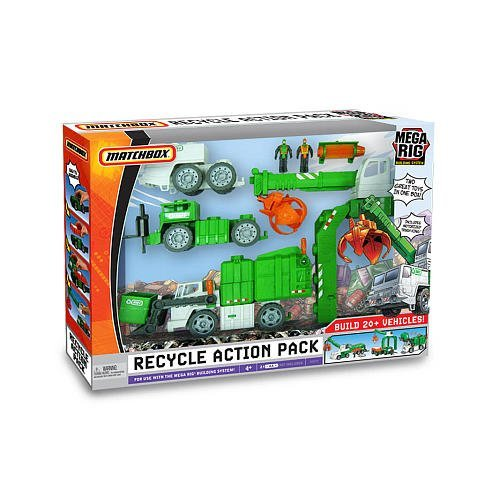Buy Low Price Mattel Mega Rig Matchbox Recycle Action Pack Building System Figure (B002NCB8MM)