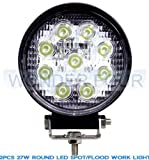 OC Gizmo LED Work Light Lamp Off Road High Power ATV Jeep 4x4 Tractor 27W Round 30 Degree Round Spot Light