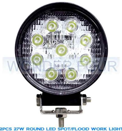 LED Work Light Lamp Off Road High Power ATV Jeep 4×4 Tractor 27W Round 30 Degree Round Spot Light