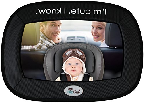 Baby Car Mirror By Hip Cub - Largest Backseat Mirror for Best Infant View! - 1