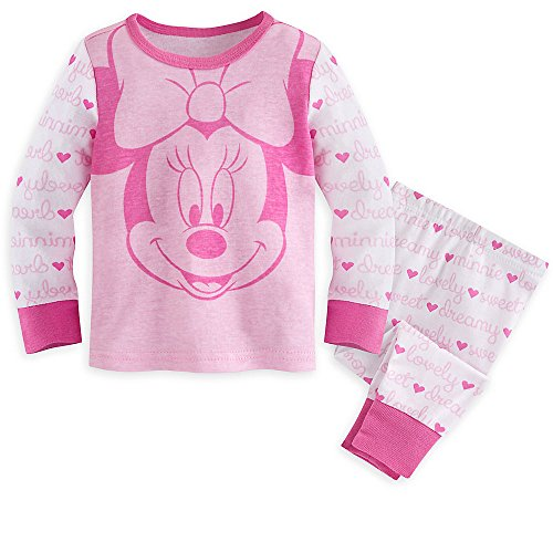 Disney Baby Minnie Mouse PJ PALS 18-24 MO Pink