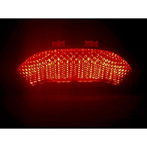 2003-2006 Honda CBR 600RR CBR600 2004-2007 Honda CBR 1000RR CBR1000 RR LED Taillights Brake Tail Lights with Integrated Turn Signals Indicators Smoke Motorcycle