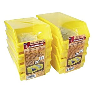 Click to buy Garage Pegboard: Triton Products 028 Bin Kits for Pegboard Storage, Yellow, 8-Pieces from Amazon!