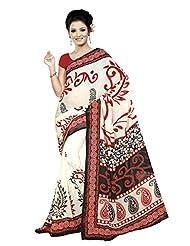 Designer Sari Striking Printed Casual Wear Faux Georgette Saree By Triveni