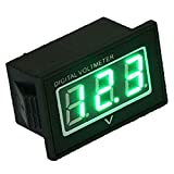 【HIROMARUjp】 防水 LED デジタル 電圧計 2線式 グリーン