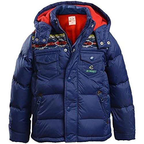 (하이 하트)Hiheart 키즈 다운 재킷 후드 부착 사내 아이 아우터 겨울 코트-