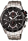 Edifice Men's Quartz Watch with Black Dial Analogue Display and Silver Stainless Steel Bracelet EFR-520SP-1AVEF