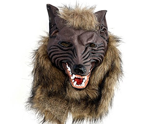 Creepy Latex Wolf Head Masks Halloween Costumes Werewolf Mask for Party or Cosplay