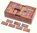 Domino Doppel 12 - Legespiel - Gesellschaftsspiel aus Holz mit