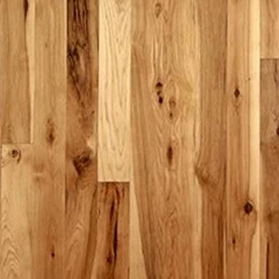 "Hickory Character Unfinished Solid Wood Flooring 5"" x 3/4"" Samples at Discount Prices by Hurst Hardwoods"